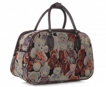 MALÁ cestovní taška kufřík Or&Mi Teddy Bear Multicolor - béžová