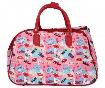Velká Cestovní Taška Kufřík Or&Mi Kiss Multicolor - Růžová