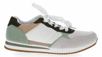 Zelené módní dámské sportovní boty Bellucci