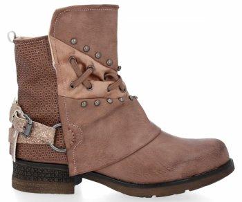 Růžové módní kotníkové boty Alex