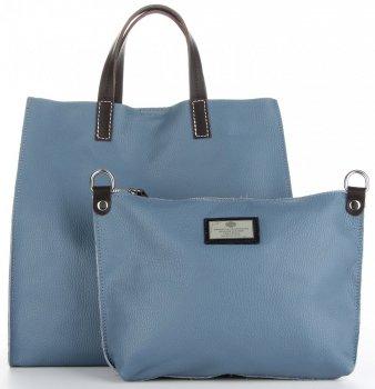Univerzální Kožené Kabelky 2v1 ShopperBag a Listonoška Modrá