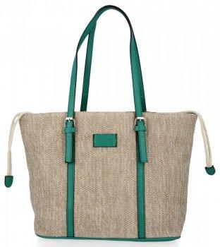 Ratanové Dámské Kabelky Shopper Bag David Jones Zelená