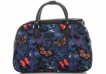 Malá cestovní taška kufřík Or&Mi vzor v motýlech Multicolor - Modrá
