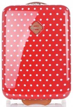 Módní Palubní kufřík tečkovaná Snowball červená