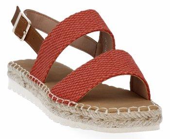 Oranžové dámské sandály espadrilky Bellucci