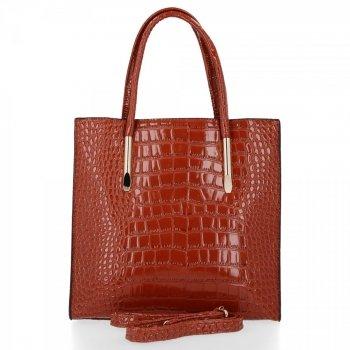 Klasická Dámská Kabelka Grace Bags Zrzavá