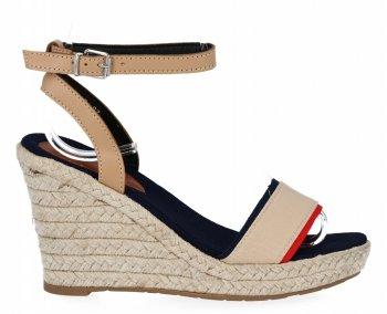 Béžové dámské klínové sandály Lady Glory