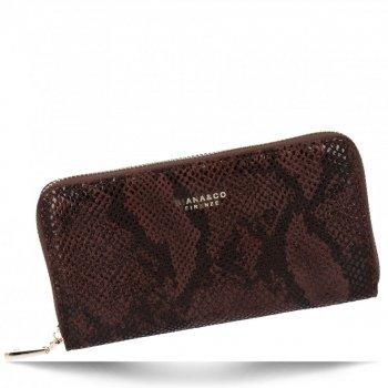 Exkluzivní Dámská Peněženka XL hadí vzor Diana&Co Čokoládová