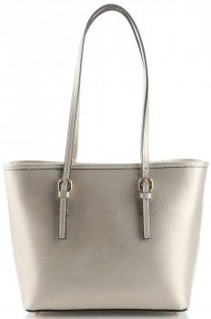 Klasická kožená kabelka Genuine Leather zlatá