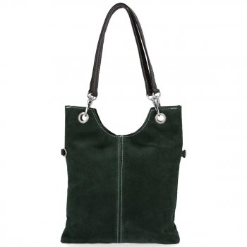 Kožené kabelky listonošky Lahvově Zelená
