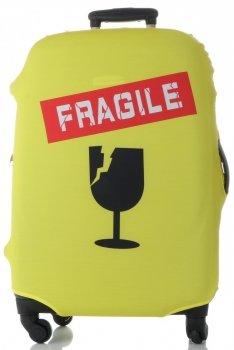 Obal na kufr Snowball M size Fragile žlutá