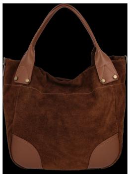 Univerzální kožená italská kabelka na každý den Hnědá