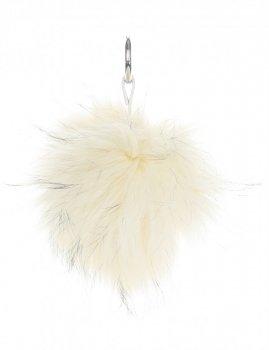 Přívěšek ke kabelce Pompon z přírodního vlasu mýval béžový