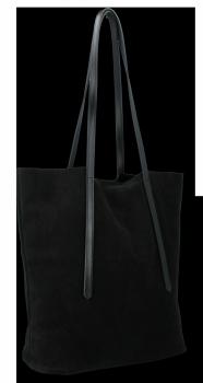 Kožené Dámské Kabelky Shopper Vittoria Gotti černá