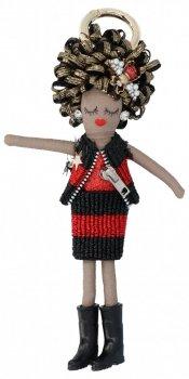 Přívěšek ke kabelce Agnes Doll Černá/červená