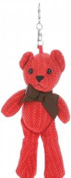 Přívěšek ke kabelce Plyšový medvídek červený
