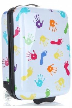 Módní Palubní kufřík nohy a ruce Snowball multicolor - bílá