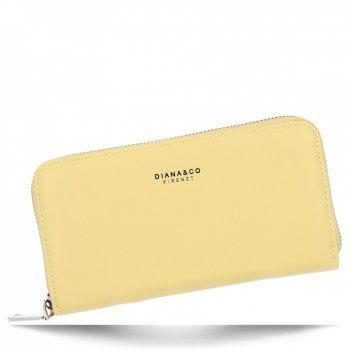 Diana&Co Univerzální Dámská Peněženka XL Žlutá