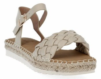 Béžové dámské sandály espadrilky Bellucci