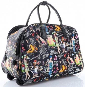 Cestovní taška na kolečkách s výsuvnou rukojetí Bearing Girl Or&Mi multicolor černá