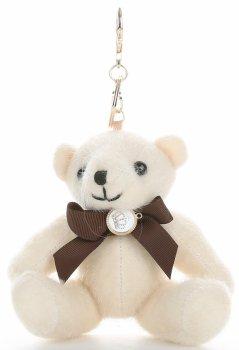 Přívěšek ke kabelce elegantní medvídek béžový