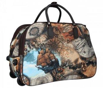 Cestovní taška na kolečkách s výsuvnou rukojetí Or&Mi Mapa Multicolor