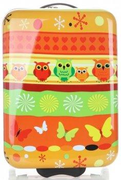 Módní Palubní kufřík s motivem sovy Snowball multicolor - oranžová
