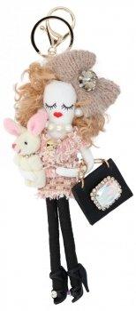 Přívěšek ke kabelce Nicky Doll Béžová