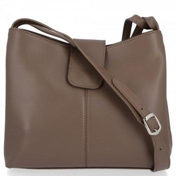 Kožené kabelky 2 přihrádky Zemitá