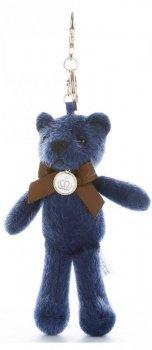 Přívěšek ke kabelce Elegantní medvídek s mašličkou tmavě modrý