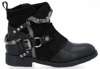 Černé módní kotnikove boty Lucia