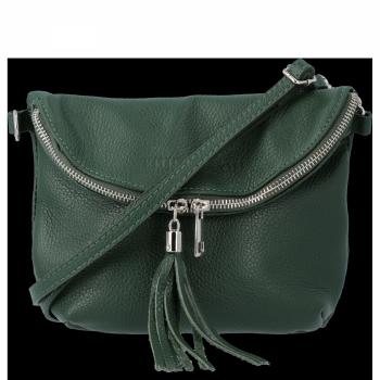 Dámská kožená kabelka listonoška Lahvově Zelená