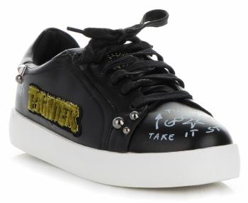 Módní Dámské Sportovní Boty Ideal Shoes Černé