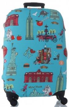 Obal na kufr Snowball M size London světle modrá