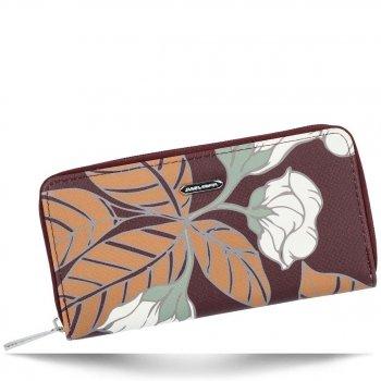 Dámská Peněženka XL David Jones vzorek v květinách Multicolor Bordová