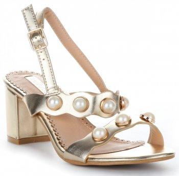 elegantní dámské polobotky Bellucci lakované zlaté