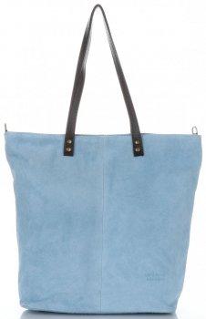 Univerzální Dámské kabelky Vera Pelle světle modrá