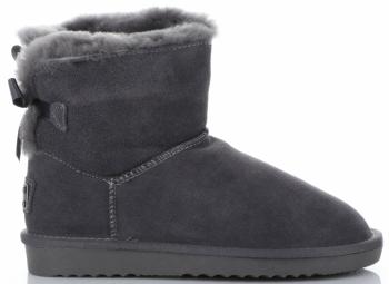 Kožené Dámské boty sněhule králík šedé