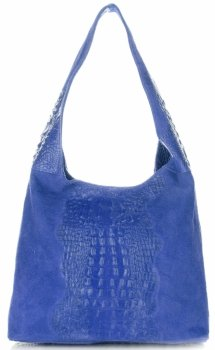 Kožené kabelky Aligator Kobaltová