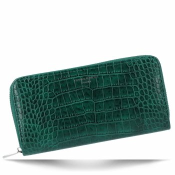 Elegantní Dámská Peněženka s motivem aligátora David Jones Lahvově Zelená