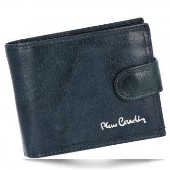 Klasická Pánská Kožená Peněženka Pierre Cardin Tmavě modrá