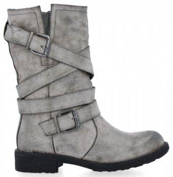 Světle šedé univerzální kotníkové boty Verona