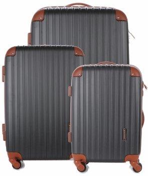 Kufry renomované firmy Madisson Sada 3v1 grafitové