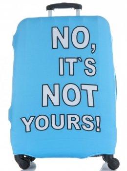 Obal na kufr Snowball M size No its not yours světle modrá