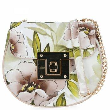 Diana&Co Módní Kabelky Listonošky květinový vzor Béžová