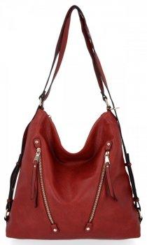 Univerzální Dámská Kabelka Grace Bags Batoh Červená