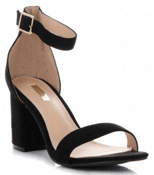 Značkové Dámské Sandály na podpatku Bellucci Černé