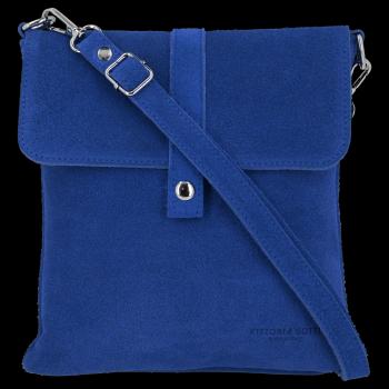 Univerzální Kožená Kabelka Listonoška Vittoria Gotti Modrá