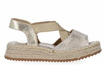 Zlaté sandály espadrilky na platformě Lady Glory