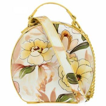 Módní Kabelky Listonošky květinový vzor Diana&Co Žlutá